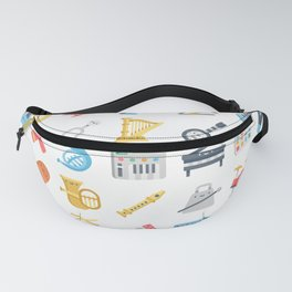 CUTE MUSICAL INSTRUMENTS PATTERN Fanny Pack