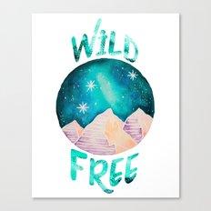 Wild & Free Boho Gypsy Galaxy Night Sky Canvas Print