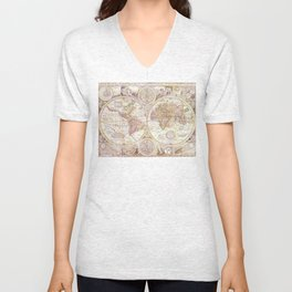 An Accurate Map Unisex V-Neck