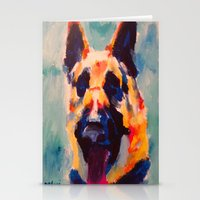 german Stationery Cards featuring German Shepherd by Heather Hartley