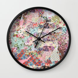 Brive map Wall Clock