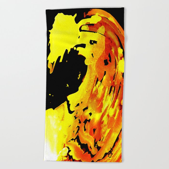 GOLDFALL Beach Towel