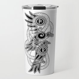 Odin's Ravens: Hugin & Munin Travel Mug
