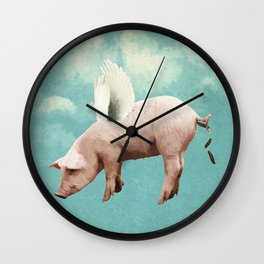 when pigs fly... Wall Clock