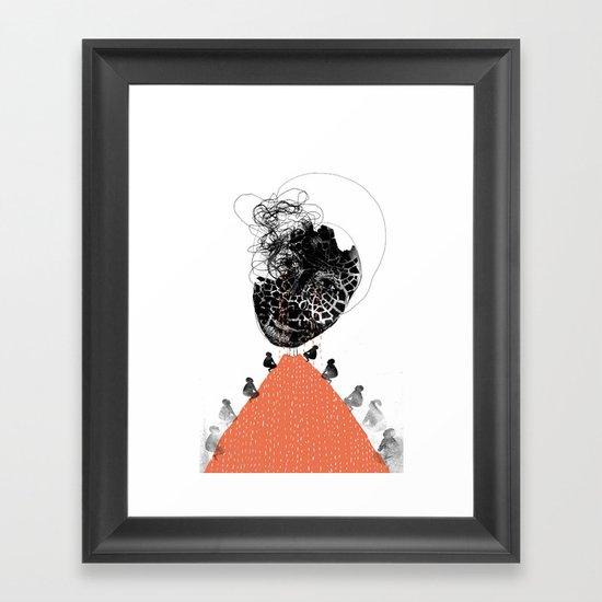 Moonrise mountain (mother earth cries) Framed Art Print