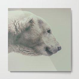 Polar Bear Smile Metal Print