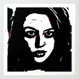 Dark Portrait Art Print