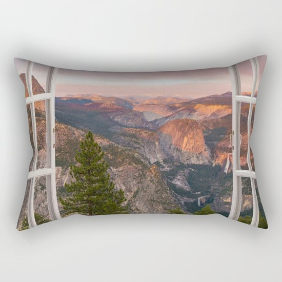 Hills through the window 2 Rectangular Pillow