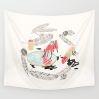 lama Wall Tapestries featuring Pretty Miniunilamacorn by Thoka Maer