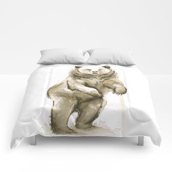 Bear Watercolor Animal Comforters