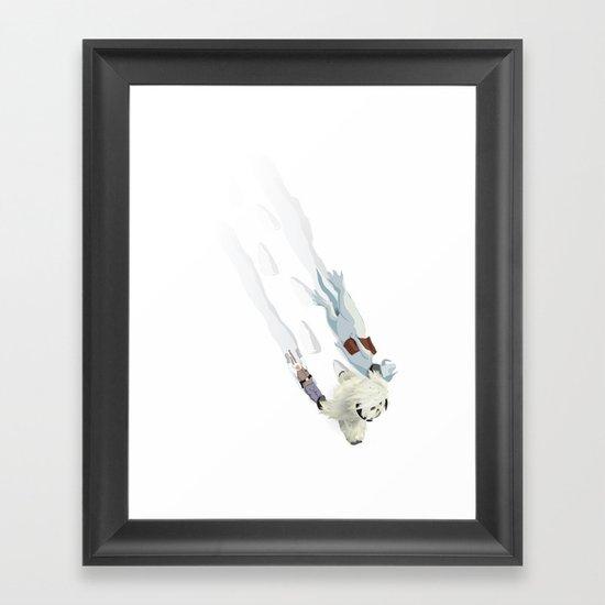 The Missing Wampa Scene Framed Art Print