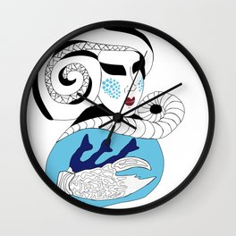 Cancer / 12 Signs of the Zodiac Wall Clock