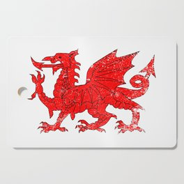 Welsh Dragon With Grunge Cutting Board