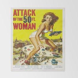 50 Foot Woman Attacks Throw Blanket