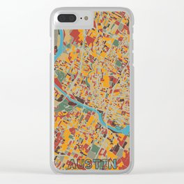 austin map retro Clear iPhone Case