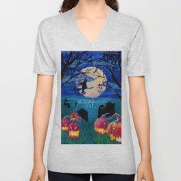 Spooky night Unisex V-Neck