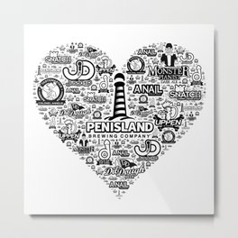 Pen Island Brewing Company Love Metal Print