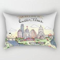 We Belong in Austin Rectangular Pillow