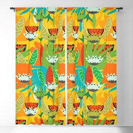 Watermelons and carrots Blackout Curtain