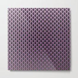 Chain Link Gleaming Rose Pink Metal Pattern Metal Print