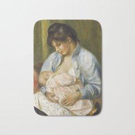 Renoir - A Woman Nursing a Child,1894 Bath Mat