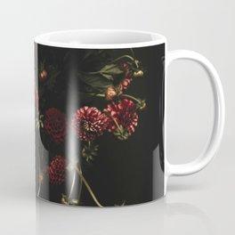 deep and dark Dahlias Coffee Mug