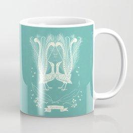 Lyrebird (eggshell blue) Coffee Mug
