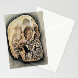 Skull Color Pencil  Stationery Cards