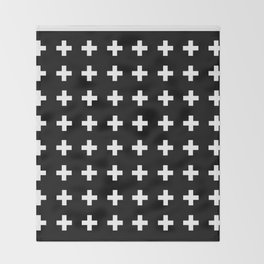 Swiss Cross Scandinavian Design Throw Blanket