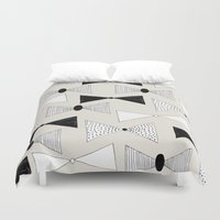 bow Duvet Covers featuring bow pattern by Georgiana Paraschiv