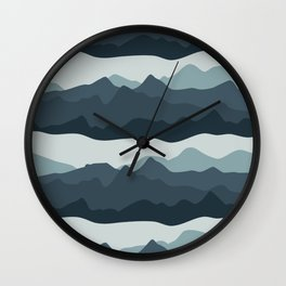 Mountain View | Navy Wall Clock