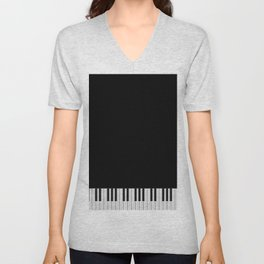 Piano Keyboard Unisex V-Neck