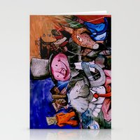 political Stationery Cards featuring Political Circus by eVol i