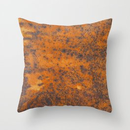 Vintage metall rust texture - Orange / red pattern Throw Pillow