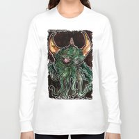 cthulhu Long Sleeve T-shirts featuring Cthulhu by byron rempel