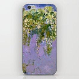 "Claude Monet ""Wisteria"", 1920 (left side) iPhone Skin"