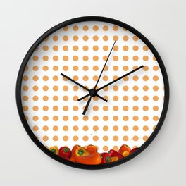 Peppers polka dot Wall Clock