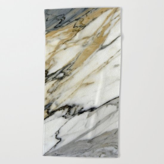 Carrara Marble Beach Towel