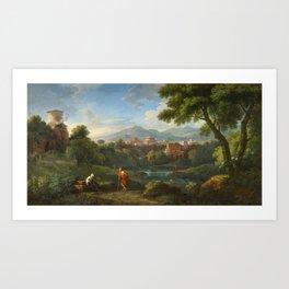 Jan Frans van Bloemen, An Arcadian Landscape Art Print