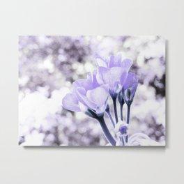 Pastel Periwinkle Flowers Metal Print