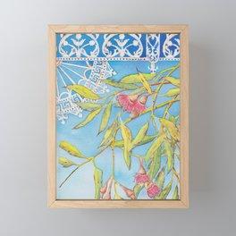 Goldfields Filigree - watercolour of eucalyptus & ironwork Framed Mini Art Print