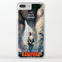 rampage film 2018 poster Clear iPhone Case