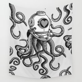 I'm falling in love with you? (Black and white) Wall Tapestry