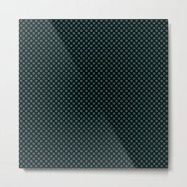 Black and Bayberry Polka Dots Metal Print