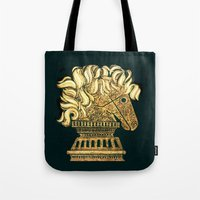 knight Tote Bags featuring Knight by Lee Ferrara