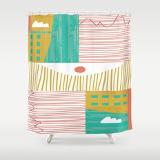 Eye On The City Shower Curtain