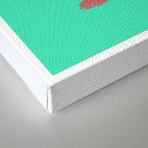 My little zombie - green version Canvas Print