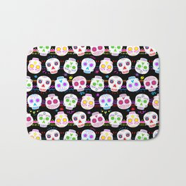 Day of the Dead Sugar Skulls Bath Mat