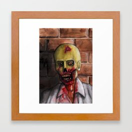 Alley Zombie Framed Art Print
