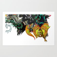 Approaching Storm - detail 001 Art Print